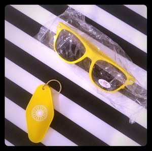 Soulcycle Sunglasses and Keychain